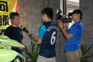 Master Tse interviewed by Chinese TV.