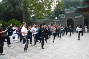 Practicing Wing Chun in Foshan