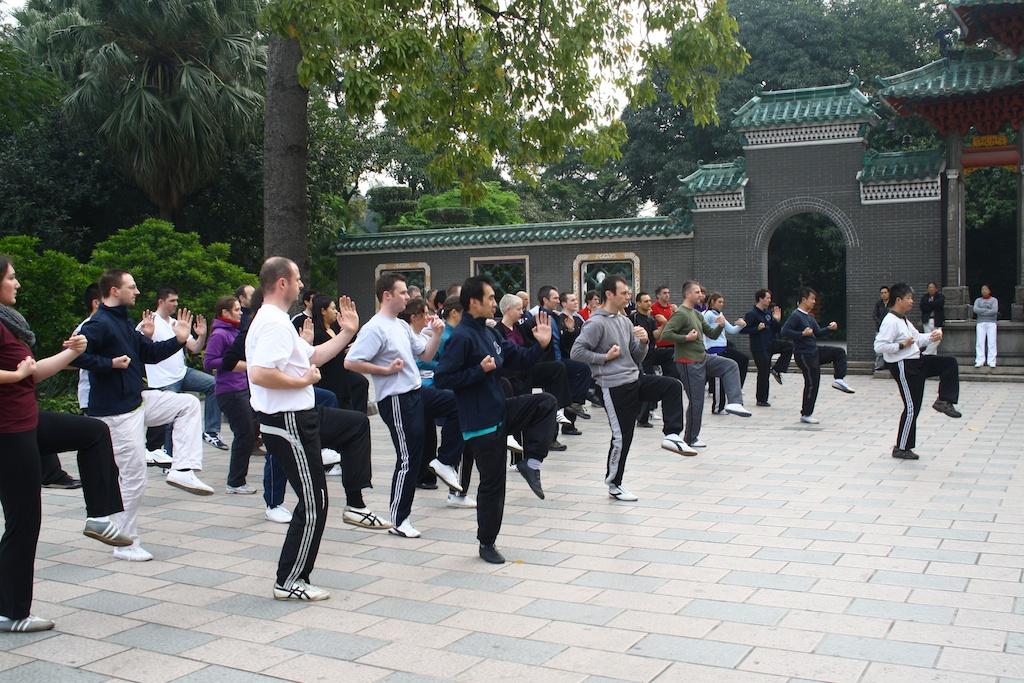 Practicing Wing Chun in Foshan