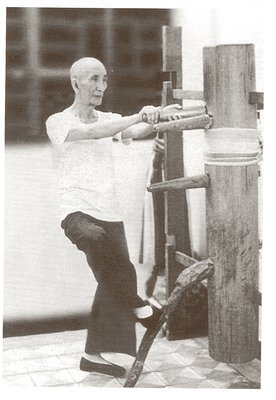 photo Grandmaster Ip Man on the Wooden Dummy