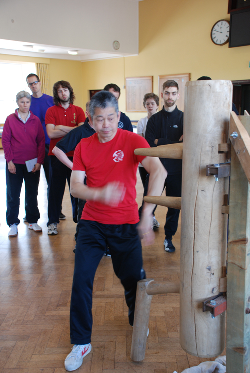 Master Tse teaching Wooden Dummy