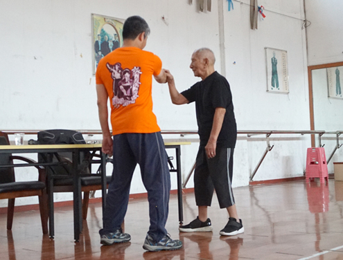 GM Ip Chun teaches Faat Sau