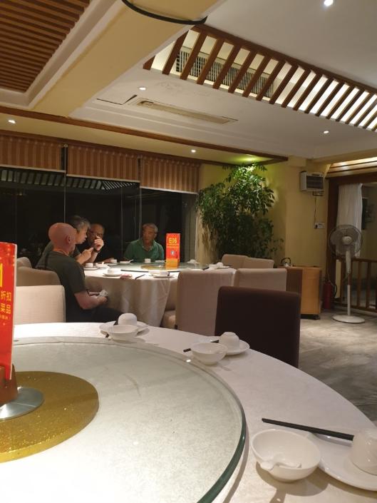Master Tse and Grandmaster Ip Chun take a quiet moment