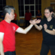 Master Tse Chi Sau's with a female student