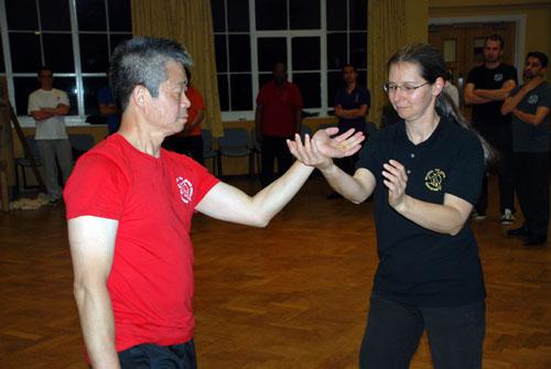 Master Tse Chi Sau's with a female student